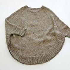 pattern by Julie Weisenberger - poncho pattern. More like sweater, in - poncho pattern. More like sweater, in Rav. Poncho Crochet, Knit Or Crochet, Crochet Vests, Crochet Shirt, Crochet Edgings, Knitted Shawls, Crochet Motif, Knitting Yarn, Hand Knitting