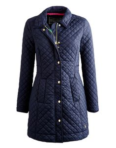 Marine Navy Fairhurst Women's Longline Quilted Jacket | Joules US