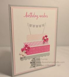 Ideas Craft Paper Invitation Stampin Up For 2019 Homemade Birthday Cards, Homemade Cards, Card Making Inspiration, Making Ideas, Bday Cards, Stamping Up Cards, Card Tags, Paper Cards, Creative Cards