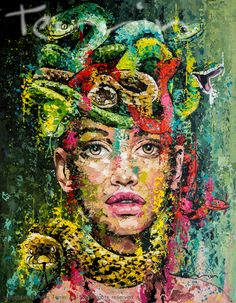 MEDUSA Acrylic on Canvas 180cm x 220cm  SOLD