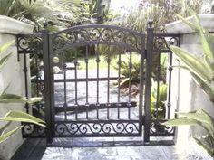 Residential Front Walk Way Wrought Iron Gate 3