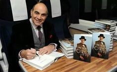David at book signing  I have the book, but the paperback has a sad prologue about Poirot~Curtain.