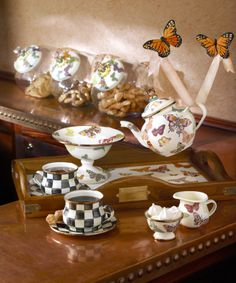 Tea is always best served by butterflies, especially for special occasions.