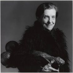 Mapplethorpe photograph of Louise Bourgeois - a French-born, American artist, who began making surrealist-inspired paintings and prints, but turned to sculpture in th...