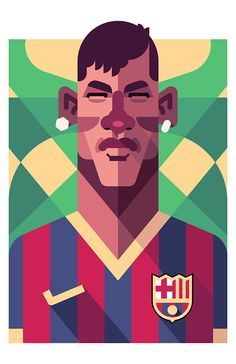 Football Players – Ilustración por Daniel Nyari #Neymar