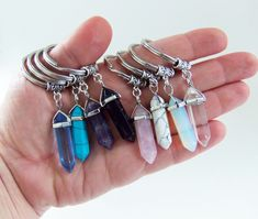 Crystal pendant keychains, crystal keychain, crystal key chain, crystal keyring, crystal key ring, crystal pendants, healing crystals, gifts by BubbleGumGraffiti on Etsy https://www.etsy.com/listing/264218956/crystal-pendant-keychains-crystal