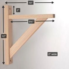 Diy Shelf Brackets Wood - Straight 10 Wood Shelf Bracket Diy Wood Shelves Wood Shelf How To Build Shelf Brackets Wooden Shelf Brackets Diy Wood Home Dzine Home Diy Diy Shelf Br. Wooden Shelf Brackets, Diy Wood Shelves, Diy Shelf Bracket, Build Shelves, Shelving Brackets, Porch Brackets, Easy Shelves, Wood Bookshelves, Floating Shelves