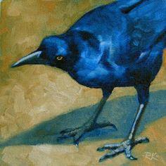 """Poised To Strike"" 6x6 oil painting by Rita Kirkman"