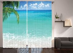 Ambesonne Ocean Decor Collection, Exotic Lebanon Beach Pa…