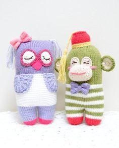 Free Pattern: Knot Forgotten Knit Monkey - Jennifer Wang Bears