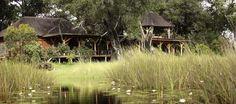 Enjoy Luxury African Safari Lodges in the Okavango Delta, a game reserve in Botswana - home to the world's best wildlife safaris and safari vacations Okavango Delta, Wildlife Safari, Game Reserve, African Safari, Lodges, Camping, Explore, Vacation, Luxury