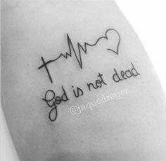 Gods not dead...lifeline/heart/cross: