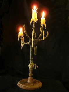 Need to check out this blog! Skeleton hand candlestick