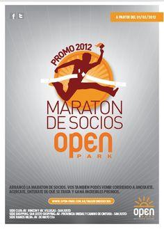 Maratón de Socios: la promoción de Open Park by La Propa , via Behance