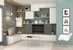 un salon la d co scandinave par sophie ferjani salons. Black Bedroom Furniture Sets. Home Design Ideas