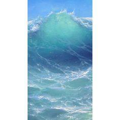 "208 - ""Atlantic Ocean near Bahamas"", Gallery Wrap Canvas Giclee print No Wave, Water Waves, Sea Waves, Sea And Ocean, Ocean Beach, Ocean Art, Ocean Life, All Nature, Seascape Paintings"