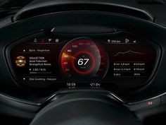 Instrument cluster concept (e-tron) by bjoern maser