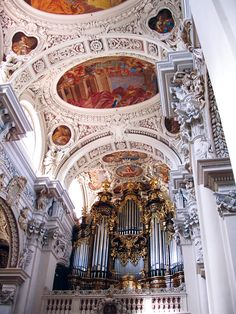 amazing pipe organ in Passau, Germany #Europe #travel