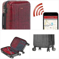 "Planet Traveler USA Smart Tech Case 28"" Spinner Luggage Red App Covers, Laptop Bags, Online Bags, Briefcase, Contemporary Design, All About Time, Planets, Tech, Personalized Items"