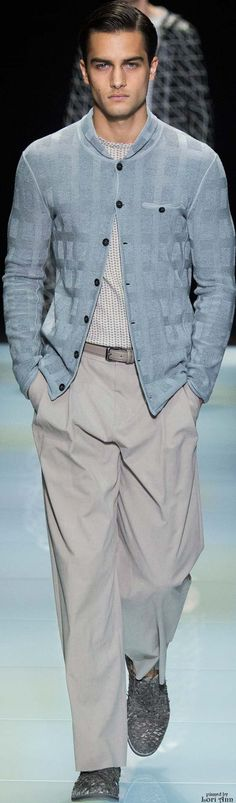 Giorgio Armani Spring 2016 | Men's Fashion | Menswear | Men's Casual Outfit | Moda Masculina | Shop at designerclothingfans.com