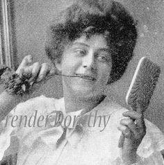 Gibson Girl's Oral Hygiene 1908 Edwardian Era Vintage Health and Beauty Rotogravure Illustration