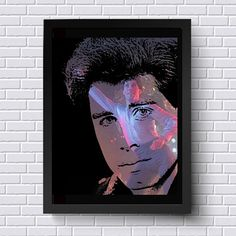 Celebrate your love for Pop Culture with Lisa Jaye's pop art prints. They are sure to add a classy cool vibe wherever you display them. John Travolta Saturday Night Fever Blended by BlendedArtDesigns