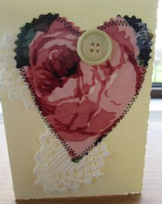 Vintage Fabric Greeting Card by TheBobbinCollective on Etsy £3 with free ppx