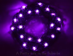 A Pretty Life in the Suburbs: Spooky Spider Light Wreath