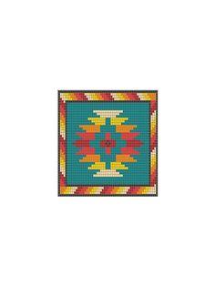 Loom Beadwork Pattern Native American Indian Design PTL-9