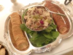 Here is my curry chicken salad recipe.  Check out my blog for more details. Chicken Curry Salad, Chicken Salad Recipes, Chicken Meals, At Home With Nikki, Christmas Salad Recipes, Cauliflower Mac And Cheese, Meat Chickens, Fresh Rolls, Appetizers