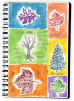 Art Projects for Kids: Tree Stamps and Watercolor (Thinking you could draw the trees and leaves for a nature journal)