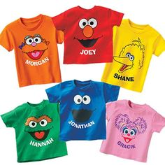 Sesame Street shirts!