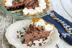 Chocolate Dream Pie #chocolate #justapinchrecipes