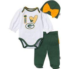 Girls Infant Green Bay Packers Green Cheerleader Dreams Creeper