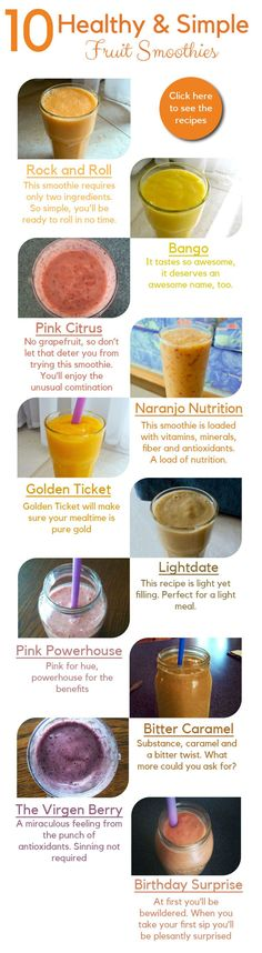 9 Fruity Smoothies as Healthy as they are Sweet by Carob Cherub | 9 healthy smoothie recipes you can make fast. Eat them any time of the day: breakfast, lunch, snack, dinner… or dessert! These recipes will help you include healthy food into your meal plan to stay healthy and lose weight @carobcherub