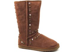 Style&Co. Women's Bolted Snow, Winter Boots Tan Chestnut Leather Size 8 M