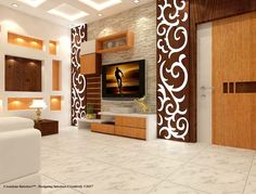 Wall design: Creative highlights Wall design lcd wall design, ceiling design, siling decoration, wall units for tv, modern BOTDSXV Siling Decoration, Wall Design, Interior Design, Lcd Wall Design, Roof Design, Bedroom Design, Ceiling Design, Living Room Tv Unit, Wall Unit