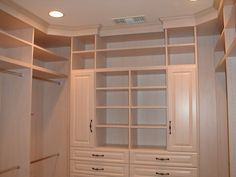 how to design a walk in u-shape storage closet - Google Search