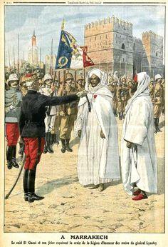 Le Général Lyautey à Marrakech (Le petit journal illustré du 27 octobre 1912)