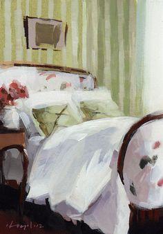 "David Lloyd - Artblog, ""Green stripes - quick study"""