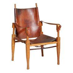 Vintage Danish Safari Chair 825