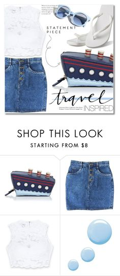 """""""Travel Inspired."""" by dazedandconfused ❤ liked on Polyvore featuring Kate Spade, Bebe, Topshop, Hotmarzz and Pinko"""