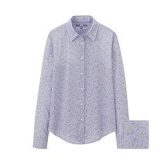 WOMEN Cotton Lawn Print Long Sleeve Shirt