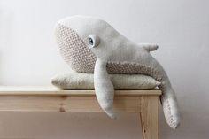 PRÉVENTE Grande Baleine Albino <O> Peluche <O> Doudou