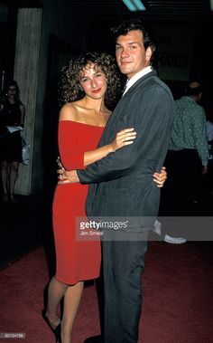 Actress Jennifer Grey and Patrick Swayze attend the premiere of 'Dirty Dancing' on August 1987 at the Gemini Theater in New York City. (Photo by Ron Galella, Ltd./Ron Galella Collection via Getty Images) via Jennifer Grey Patrick Swayze, Dirty Dancing, Dancing Baby, Hooray For Hollywood, Hollywood Walk Of Fame, Dance Photos, Photos Du, Us Actress, Show Dance