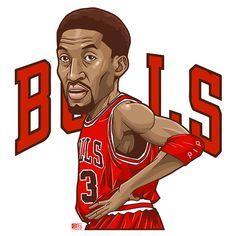 NBA player illust on Behance Basketball Jones, Basketball History, Basketball Art, Basketball Legends, Adidas Backgrounds, Boondocks Drawings, Michael Jordan Quotes, Best Nba Players, Scottie Pippen