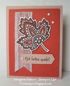 by Margaret: Lighthearted Leaves, Fabulous Four, Leaflets framelits, & more - all from Stampin' Up!