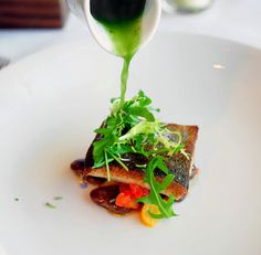 Mullet with Puha and Tangerine Vinaigrette