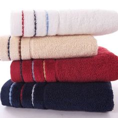 """pack of 4 cotton solid washcloths business man quality hand towels 23*12""""  68g #Kingshore"""