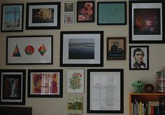 The Curated Walls of Bridget and Bill Watson Payne.    Take a look at the home and art collection of Chronicle Books Editor, Bridget and her husband, Bill.
